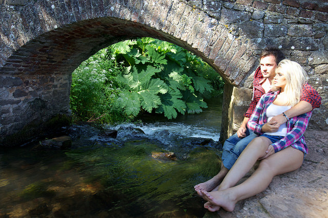 Lovers Bridge, Dunster - about 6 miles from West Withy Farm