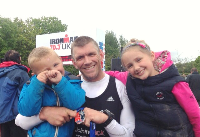 Ironman 2014 'I did it in front of my biggest fans'. Nick, Izzi and Jack