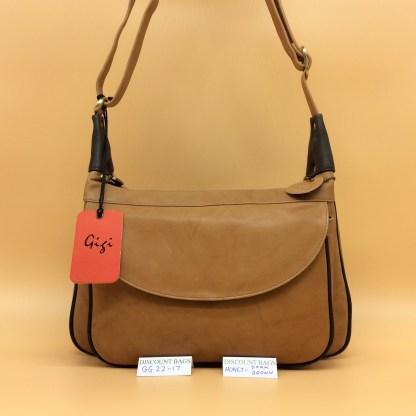 Gigi Leather Bag - 22-17G. Honey/Dk.Brown