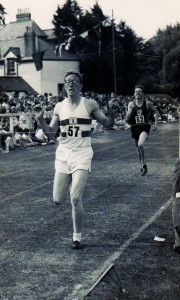 'Run the straight race' – a young Albert crossing the line first, c. late 1950s.