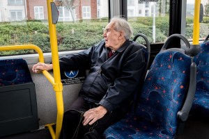 Eric Freeman uses the 101 Town bus regularly and says if the service goes he will have little choice but to more house to be nearer the shops and doctors. Photo: Andrew Hobbs