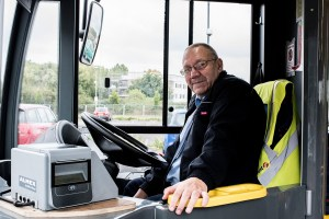 Andy, the driver of the 101 Town bus, fears for his job once the route is closed at the end of October (2016). Photo: Andrew Hobbs