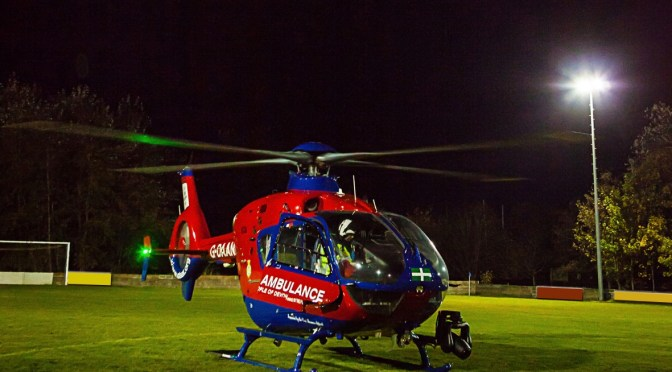 DEVON AIR AMBULANCE TARGETED BY LASER
