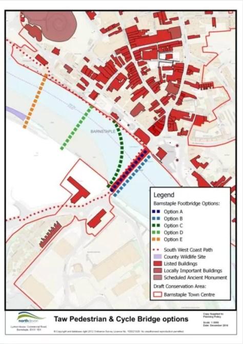 Taw Footbridge Options (revised)