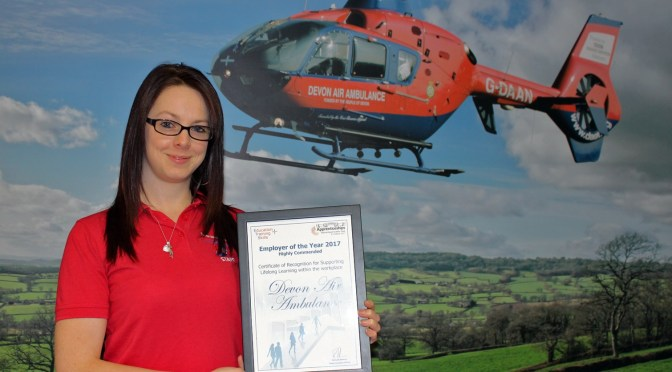 DEVON AIR AMBULANCE HIGHLY COMMENDED IN AWARDS