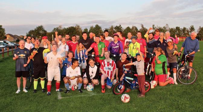 BARNSTAPLE ABILITY FOOTBALL CLUB CELEBRATE TOUR OF BRITAIN