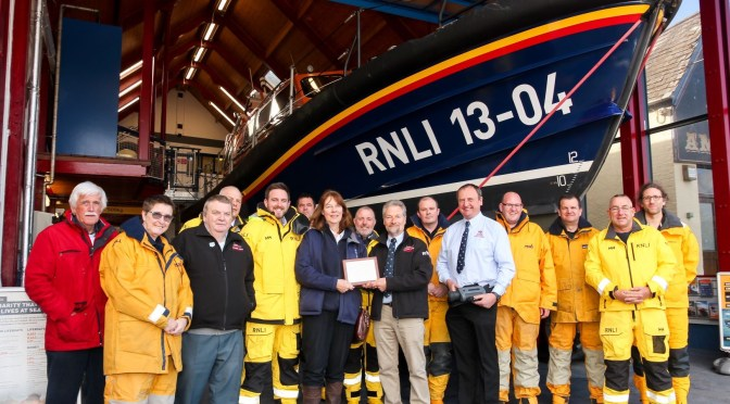 RNLI ILFRACOMBE RECEIVES GRANT FROM NORTH DEVON COAST AONB