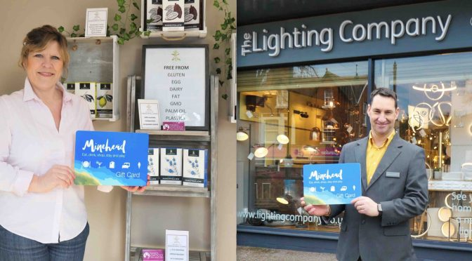 The launch of the Minehead Gift Card: an easy way to support local businesses