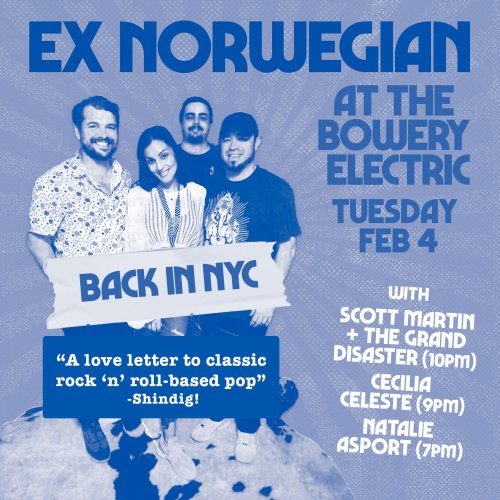 Live in NYC: 2/4 at Bowery Electric