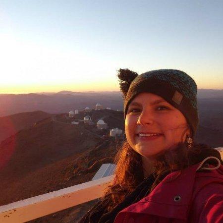 Hannah at La Silla Observatory 2014