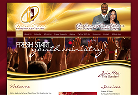 Open Door Worship Center church website design