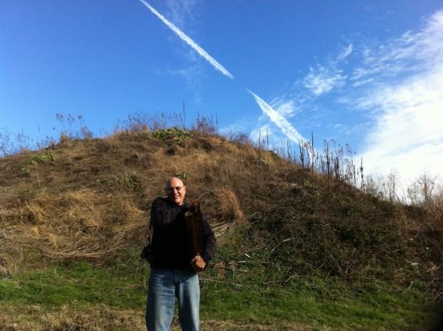 Steve at oldest mound