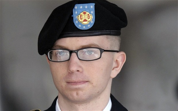 """Manning invoked that late Howard Zinn, quoting, """"There is not a flag large enough to cover the shame of killing innocent people."""""""