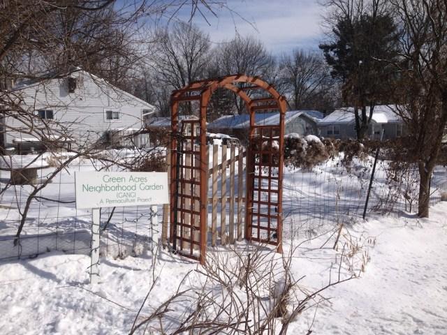 GANG sign, winter