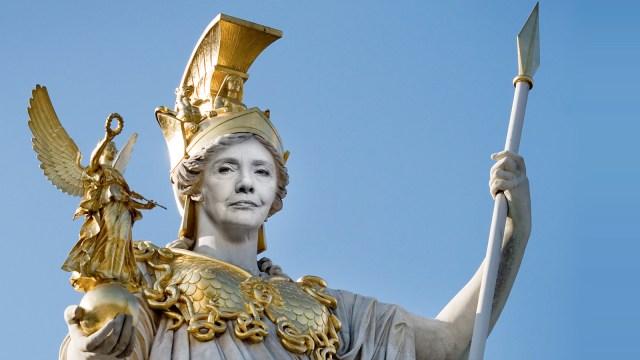 HIllary Clinton as Goddess Athena,