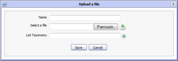 Select a local file to upload into the ECM content storage