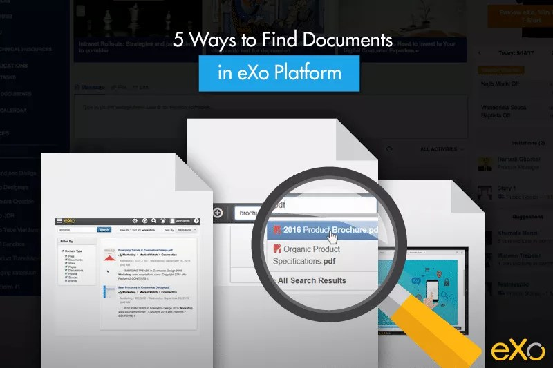 Find documents, find documents in eXo Platform