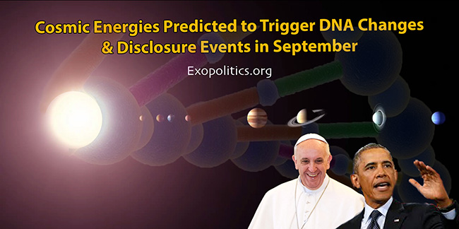 Cosmic energies predicted to trigger DNA changes & disclosure events in September