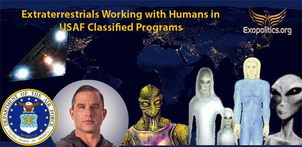 Инопланетяне  работают с людьми в секретных программах ВВС США . МАЙКЛ САЛЛА  7 ИЮЛЯ 2018 ГОДА USAF-works-with-ETs