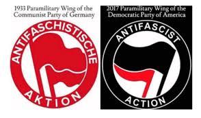 Майкл Салла - QАнон  раскрывает связи между нацистами и Глубинным государством и попытки развязать войну между США и Россией  Antifa-and-Communist-Action
