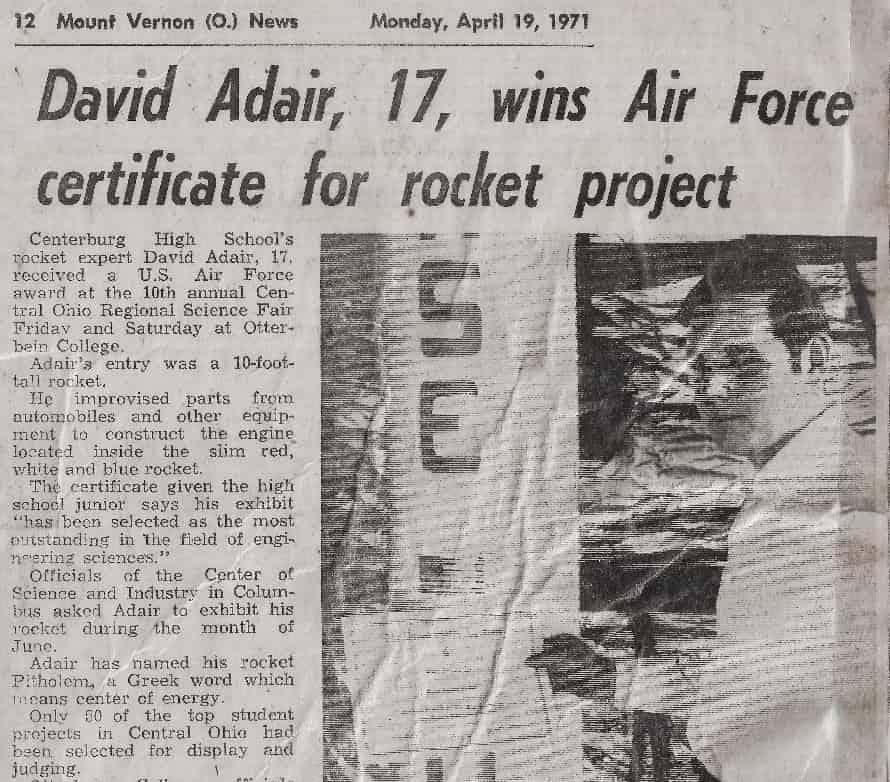 Статья о ядерном термоядерном реакторе для гибридного космического корабля опубликована в престижном журнале  David-Adair-Mount-Vernon-News
