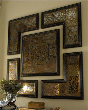 5-Piece Mirrored Wall Art Set