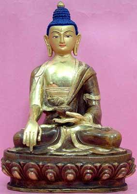 Gold Painted Gautam Buddha