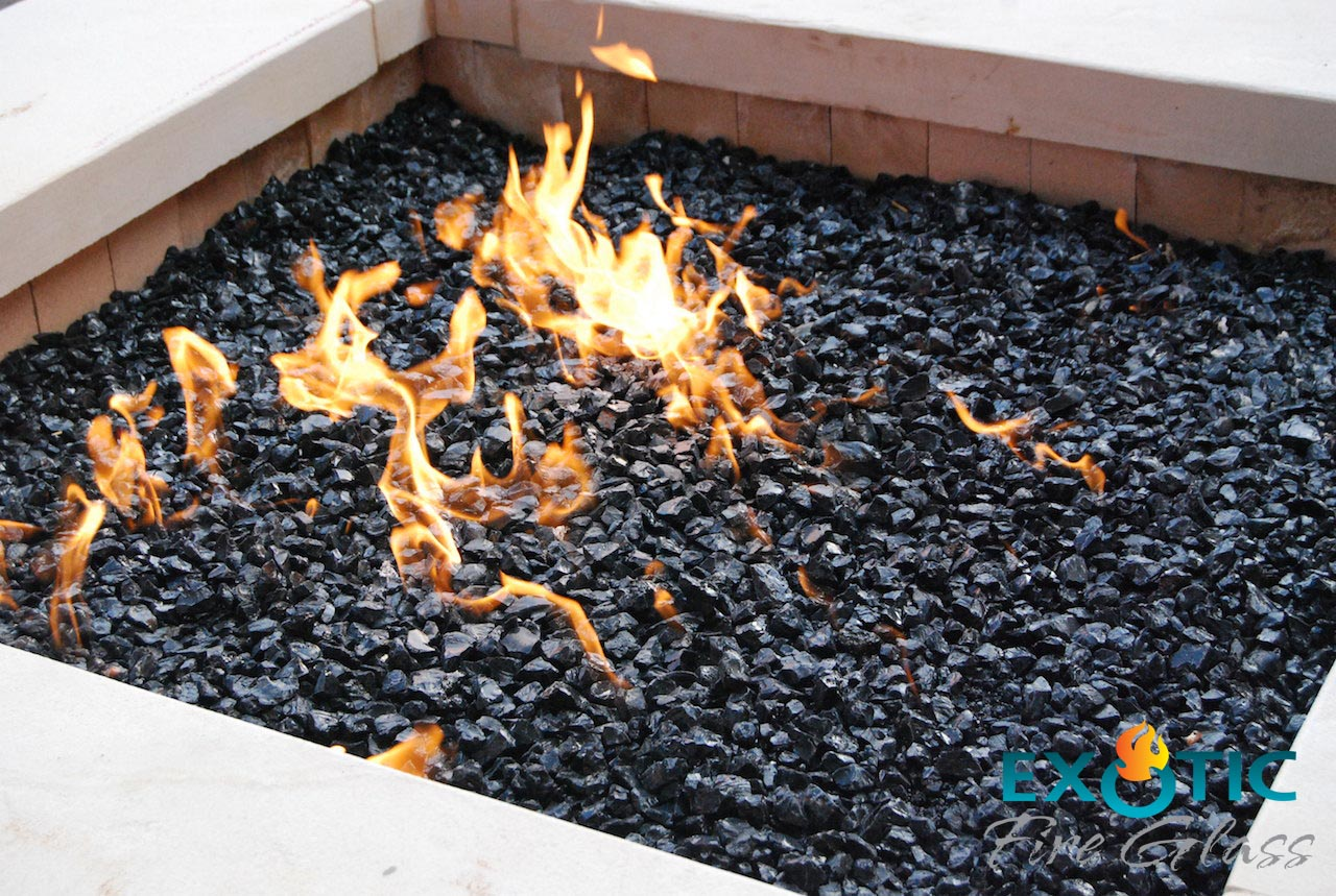 Brown Lava Rock Landscaping