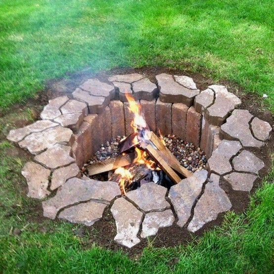 Discover In Ground Fire Pit Ideas Exotic Pebbles And Glass