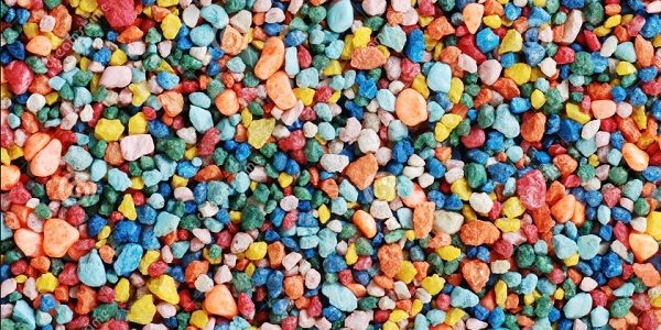 Colored Pebbles Landscaping