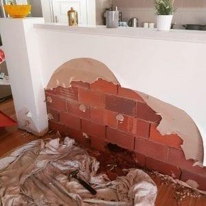 Leak detection of burst pipe in kitchen