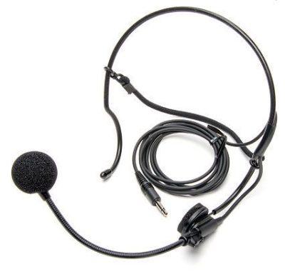 Azden HS-12 Uni-Directional Behind-The-Head Set Microphone