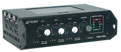 Azden FMX-32a 3 Channel Portable Microphone Mixer