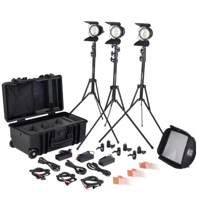 Litepanels Sola ENG Flight Kit Complete LED Fresnel kit in an FAA Carry-on size