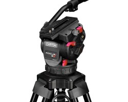 Cartoni Focus 8 Red Lock Aluminum Tripod