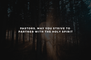 Pastors, May You Strive to Partner with the Holy Spirit