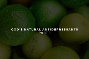 God's Natural Antidepressants – Part 1