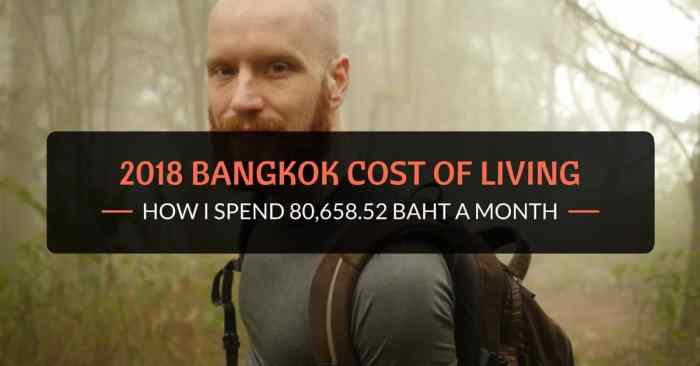 2018 bangkok cost of living