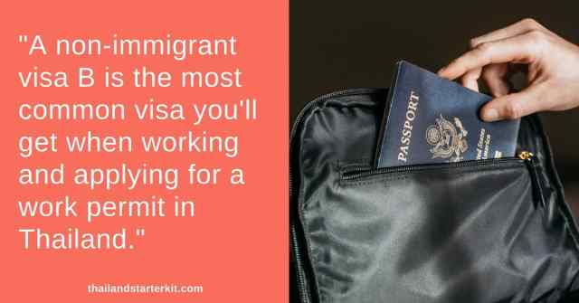 non-immigrant visa b thailand
