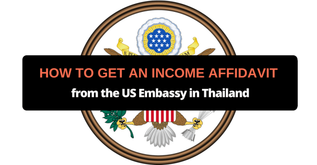how to get an income affidavit from the us embassy