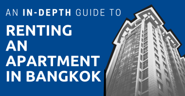 A highrise building with the title: An In-Depth Guide to Renting an Apartment in Bangkok