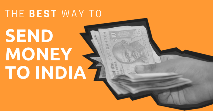 A hand holding Indian Rupees with the title: The Best Way to Send Money to India.