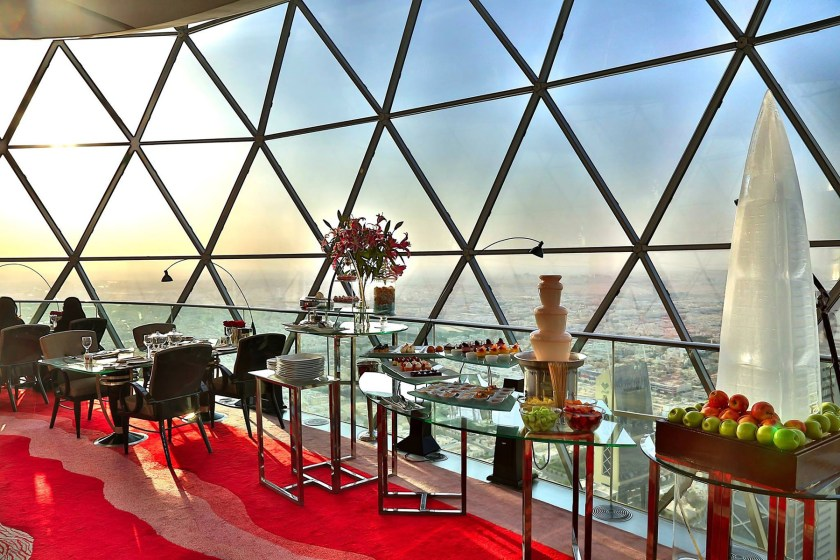 The Globe restaurant, inside the Al Faisaliah Tower in Riyadh