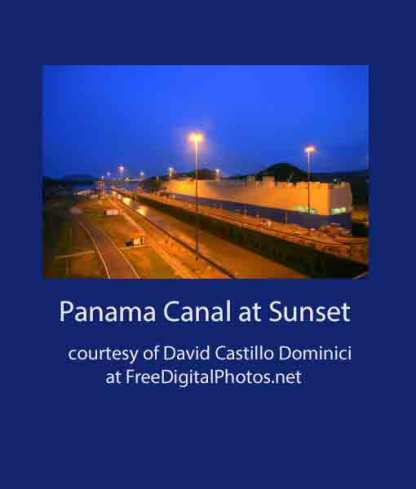 Panama Canal at Sunset