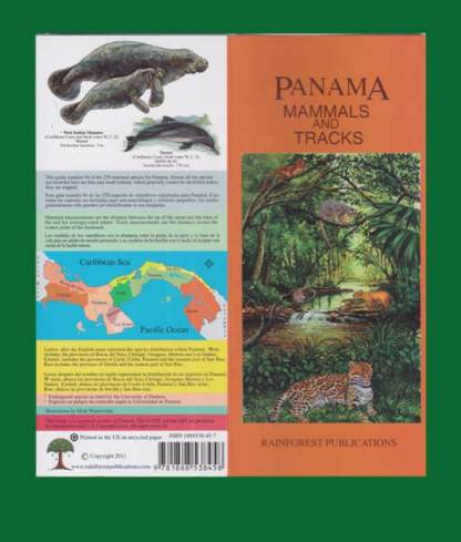 Panama Mammals & Tracks Guide - Front & Back