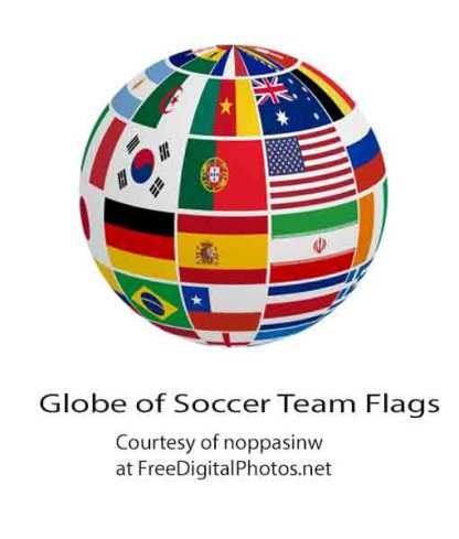 Globe of Soccer Team Flags