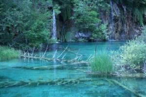 Lake and waterfall at Plitvice National Park