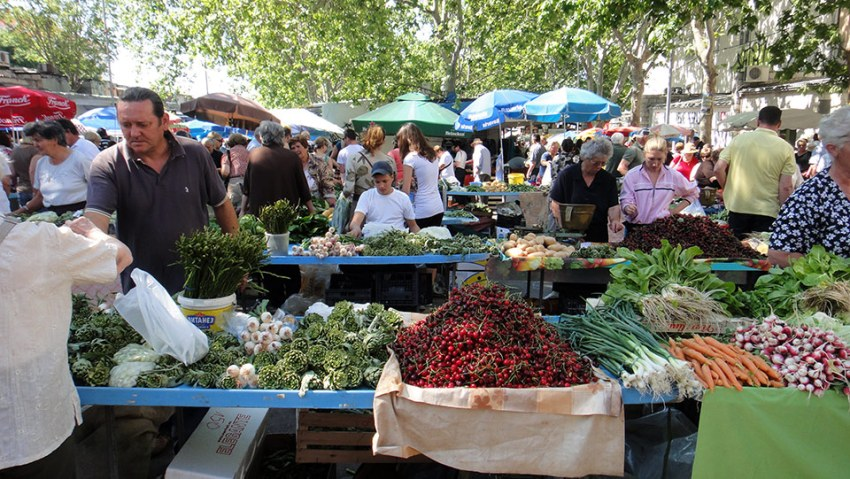 Pazar (farmer's market) in Split, Croatia