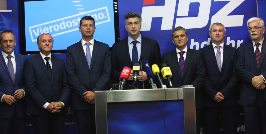 HDZ, one of Croatia's top political parties