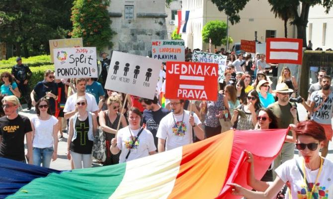 Rispet organized Split Pride Parade